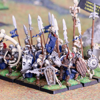 Skeleton warriors from RAMF and Harlequin with Citadel models as fillers