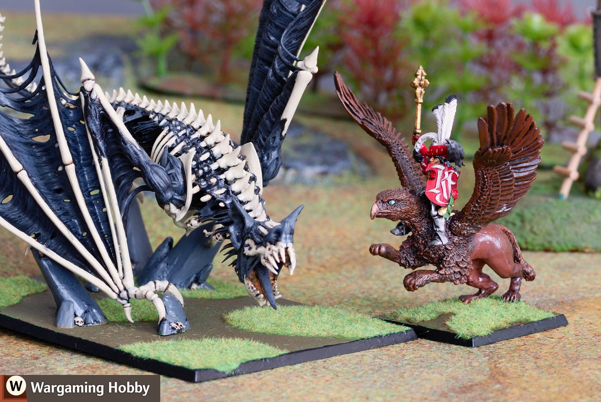 Vampire Counts Terrorgheist is finally stopped by an Empire General on a Black Tree Design gryphon