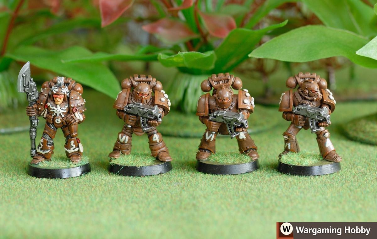 Space Marine Armour: Mk1 Thunder, Mk2 Crusader, Mk3 Iron and Mk4 Maximus