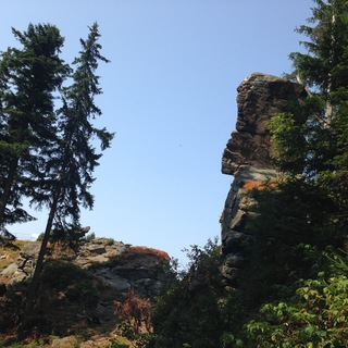 Rock formation near Ladek Zdroj (Polish Sudetes)