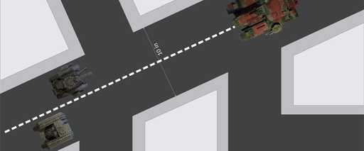 "Recommended layout for a 48"" x 48"" cityfight table"
