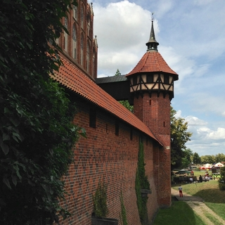 Malbork Castle (wall with a medieval toilet)
