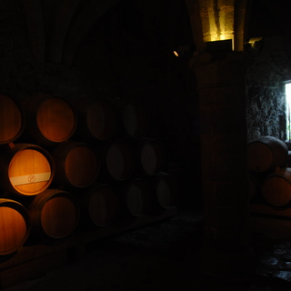 Castle Chillon: barrels to ride to the lake