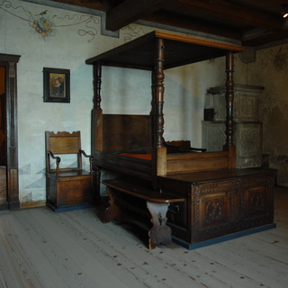 Castle Chillon: the bedroom of the lord