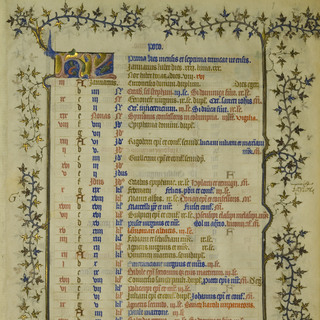 Calendarium Parisiense, XIV century, National Library in Warsaw