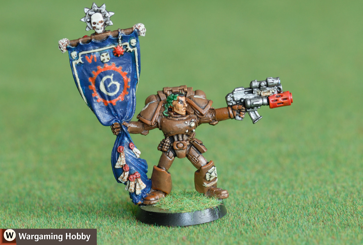 Bronze Gryphons Space Marines Standard Bearer (from the Skullz Promotion)