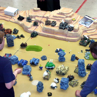Huge tank battle of Warhammer 40k I participated in