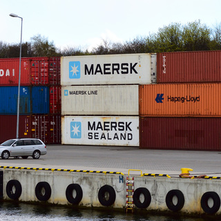 Industrial Terrain Inspiration: Colourful Maersk Containers in the Gdansk Harbour