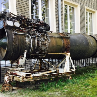 Industrial Terrain Inspiration: a Weathered Turbo-jet Engine