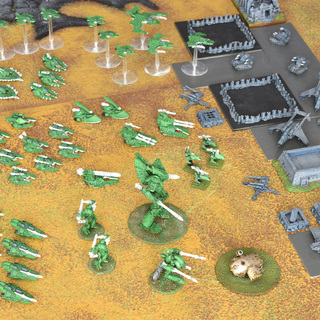 Epic eldar strike force overwhelms an imperial airbase