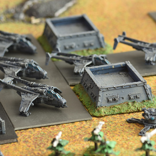 Epic Imperial airbase with Forgeworld Valkyries, Vultures and bunkers