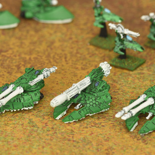 Epic Eldar Scorpions and a Cobra super heavy tanks from the late 90s