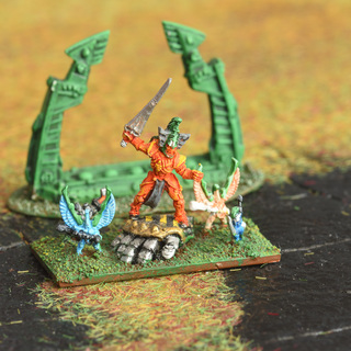 Epic Eldar Avatar of Khaine and the Court of the Young King