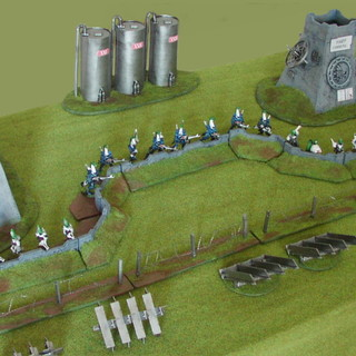 Fortified sci-fi defence line