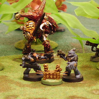 Fighting over the objective marker: an arc with ashes of an Imperial hero